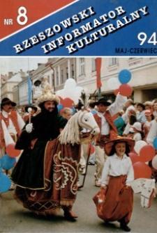 Rzeszowski Informator Kulturalny. 1994, nr 8 (maj-czerwiec)