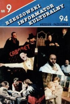 Rzeszowski Informator Kulturalny. 1994, nr 9 (wrzesień-październik)