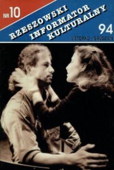 Rzeszowski Informator Kulturalny. 1994, nr 10 (listopad-grudzień)
