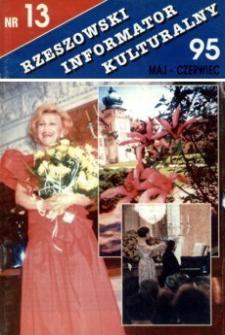 Rzeszowski Informator Kulturalny. 1995, nr 13 (maj-czerwiec)