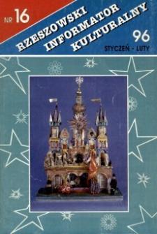 Rzeszowski Informator Kulturalny. 1996, nr 16 (styczeń-luty)