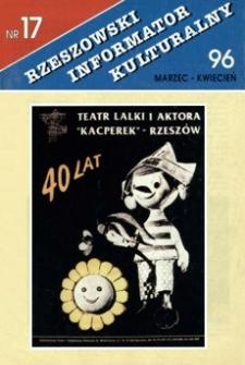 Rzeszowski Informator Kulturalny. 1996, nr 17 (marzec-kwiecień)