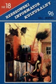 Rzeszowski Informator Kulturalny. 1996, nr 18 (maj-sierpień)