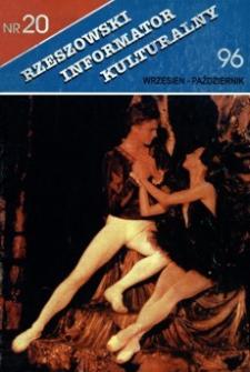 Rzeszowski Informator Kulturalny. 1996, nr 20 (wrzesień-październik)