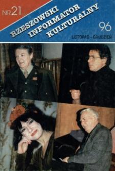 Rzeszowski Informator Kulturalny. 1996, nr 21 (listopad-grudzień)