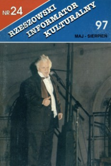 Rzeszowski Informator Kulturalny. 1997, nr 24 (maj-sierpień)
