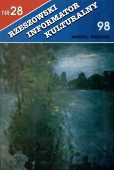 Rzeszowski Informator Kulturalny. 1998, nr 28 (marzec-kwiecień)