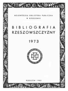 Bibliografia Rzeszowszczyzny 1973