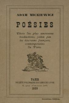 Poésies : choix des plus anciennes traductions, faites par les écrivains français, contemporains du Poète