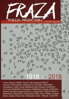 Fraza : poezja, proza, esej. 2018, R. 26, nr 101-102