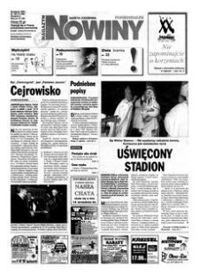 Nowiny : gazeta codzienna. 2000, nr 166 (28 sierpnia)