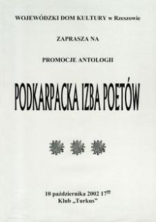Promocja antologii Podkarpacka Izba Poetów [Afisz]