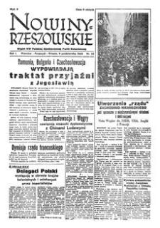 Nowiny Rzeszowskie : organ KW Polskiej Zjednoczonej Partii Robotniczej. 1949, R. 1, nr 22 (6 października)
