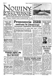 Nowiny Rzeszowskie : organ KW Polskiej Zjednoczonej Partii Robotniczej. 1949, R. 1, nr 24 (8 października)