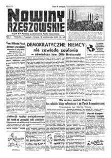 Nowiny Rzeszowskie : organ KW Polskiej Zjednoczonej Partii Robotniczej. 1949, R. 1, nr 28 (12 października)
