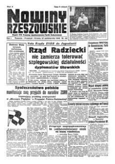 Nowiny Rzeszowskie : organ KW Polskiej Zjednoczonej Partii Robotniczej. 1949, R. 1, nr 43 (27 października)