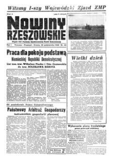 Nowiny Rzeszowskie : organ KW Polskiej Zjednoczonej Partii Robotniczej. 1949, R. 1, nr 45 (29 października)