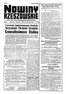 Nowiny Rzeszowskie : organ KW Polskiej Zjednoczonej Partii Robotniczej. 1949, R. 1, nr 53 (6 listopada)