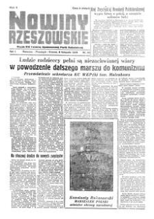 Nowiny Rzeszowskie : organ KW Polskiej Zjednoczonej Partii Robotniczej. 1949, R. 1, nr 55 (8 listopada)