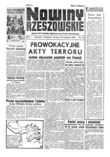 Nowiny Rzeszowskie : organ KW Polskiej Zjednoczonej Partii Robotniczej. 1949, R. 1, nr 73 (26 listopada)