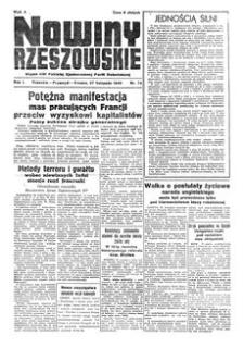 Nowiny Rzeszowskie : organ KW Polskiej Zjednoczonej Partii Robotniczej. 1949, R. 1, nr 74 (27 listopada)