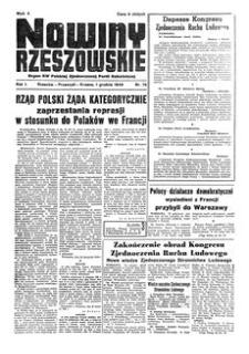 Nowiny Rzeszowskie : organ KW Polskiej Zjednoczonej Partii Robotniczej. 1949, R. 1, nr 78 (1 grudnia)