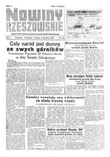Nowiny Rzeszowskie : organ KW Polskiej Zjednoczonej Partii Robotniczej. 1949, R. 1, nr 82 (5 grudnia)