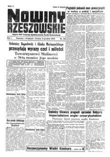 Nowiny Rzeszowskie : organ KW Polskiej Zjednoczonej Partii Robotniczej. 1949, R. 1, nr 86 (9 grudnia)