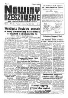 Nowiny Rzeszowskie : organ KW Polskiej Zjednoczonej Partii Robotniczej. 1949, R. 1, nr 88 (11 grudnia)