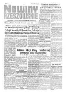 Nowiny Rzeszowskie : organ KW Polskiej Zjednoczonej Partii Robotniczej. 1949, R. 1, nr 89 (12 grudnia)