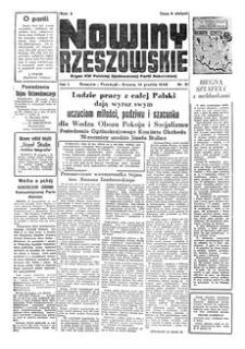 Nowiny Rzeszowskie : organ KW Polskiej Zjednoczonej Partii Robotniczej. 1949, R. 1, nr 91 (14 grudnia)