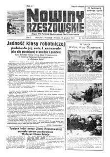Nowiny Rzeszowskie : organ KW Polskiej Zjednoczonej Partii Robotniczej. 1949, R. 1, nr 92 (15 grudnia)