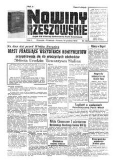 Nowiny Rzeszowskie : organ KW Polskiej Zjednoczonej Partii Robotniczej. 1949, R. 1, nr 96 (19 grudnia)