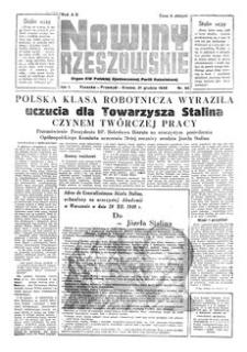 Nowiny Rzeszowskie : organ KW Polskiej Zjednoczonej Partii Robotniczej. 1949, R. 1, nr 98 (21 grudnia)