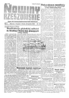 Nowiny Rzeszowskie : organ KW Polskiej Zjednoczonej Partii Robotniczej. 1949, R. 1, nr 100 (23 grudnia)