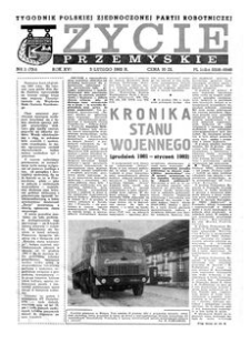 Życie Przemyskie : tygodnik Polskiej Zjednoczonej Partii Robotniczej. 1982, R. 16, nr 1 (736) (3 lutego)