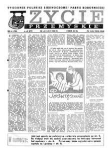 Życie Przemyskie : tygodnik Polskiej Zjednoczonej Partii Robotniczej. 1982, R. 16, nr 4 (739) (24 lutego)