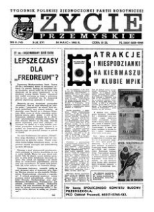 Życie Przemyskie : tygodnik Polskiej Zjednoczonej Partii Robotniczej. 1982, R. 16, nr 8 (743) (24 marca)