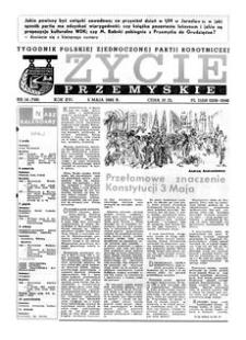 Życie Przemyskie : tygodnik Polskiej Zjednoczonej Partii Robotniczej. 1982, R. 16, nr 14 (749) (5 maja)