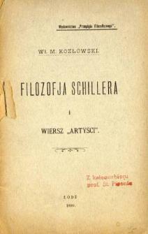 """Filozofja Schillera i wiersz """"Artyści"""""""