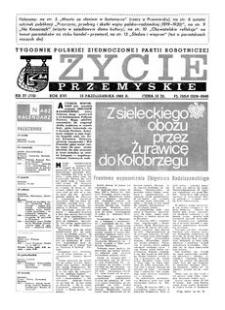 Życie Przemyskie : tygodnik Polskiej Zjednoczonej Partii Robotniczej. 1982, R. 16, nr 37 (772) (13 października)