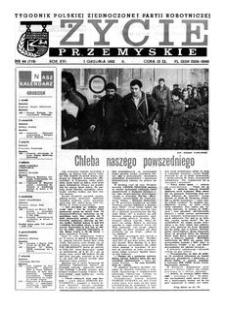 Życie Przemyskie : tygodnik Polskiej Zjednoczonej Partii Robotniczej. 1982, R. 16, nr 44 (779) (1 grudnia)