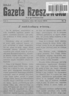 Gazeta Rzeszowska. 1945, R. 1, nr 9, 11, 15
