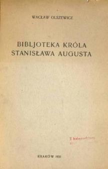 Bibljoteka króla Stanisława Augusta