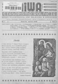 Niwa : czasopismo rolnicze : organ Wojewódzkiej Izby Rolniczej w Rzeszowie. 1946, R. 2, nr 1-12