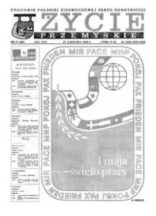 Życie Przemyskie : tygodnik Polskiej Zjednoczonej Partii Robotniczej. 1983, R. 17, nr 17 (800) (27 kwietnia)