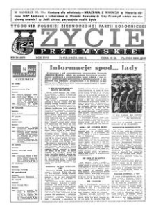 Życie Przemyskie : tygodnik Polskiej Zjednoczonej Partii Robotniczej. 1983, R. 17, nr 24 (807) (15 czerwca)