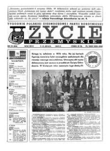 Życie Przemyskie : tygodnik Polskiej Zjednoczonej Partii Robotniczej. 1983, R. 17, nr 31 (814) (3 sierpnia)