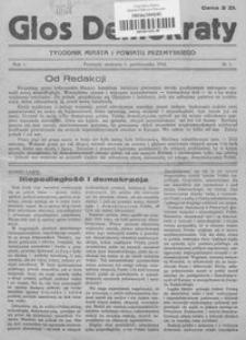Głos Demokraty : tygodnik miasta i powiatu przemyskiego. 1944, R. 1, nr 1-4, 6-8, 11-14
