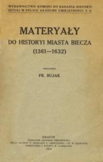 Materyały do historyi miasta Biecza : (1361-1632)